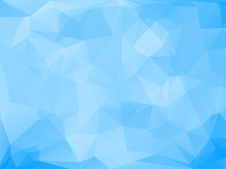blue abstract background composition of triangles