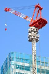 Crane of a construction sit