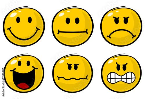 verschiedene Smileys Stockfotos und lizenzfreie Vektoren