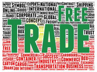 Free trade word cloud shape