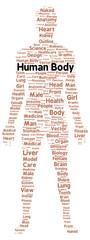 Human body word cloud shape