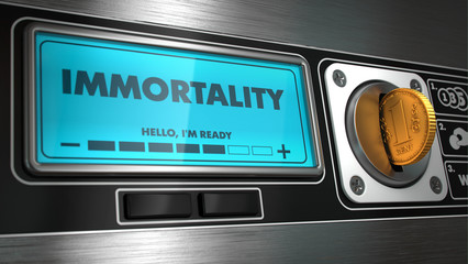 Immortality in Display on Vending Machine. Wall mural