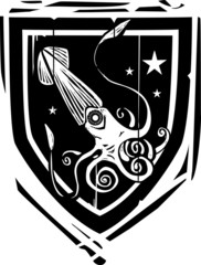 Heraldic Shield Squid