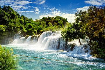Photo sur Aluminium Cascade Waterfalls Krka