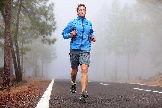 Healthy running runner man workout