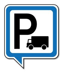 Logo parking camion.