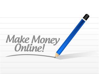 make money online message illustration