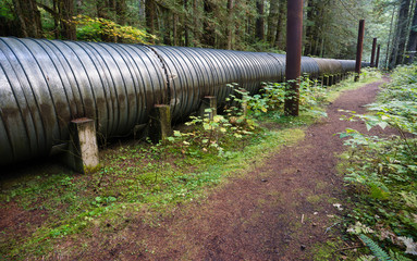 Large Pipeline Industrial Pipe Indistry Construction Viaduct