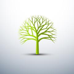 Tree icons set , vector illustration