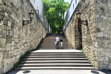 Steps of El Conde Street, Santo Domingo, Dominican Republic