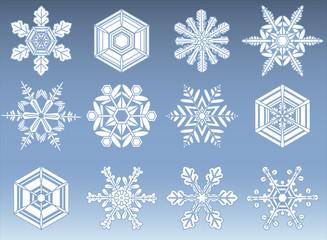 Snowflake Silhouette Icons