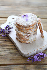 homemade cookies with lavender