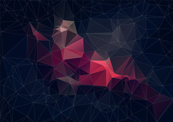 Abstract retro colorTriangle Background, Vector