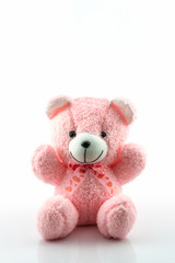 Pink teddy bear.