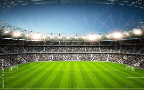 Wall mural Stadion Seitenlinie neutral
