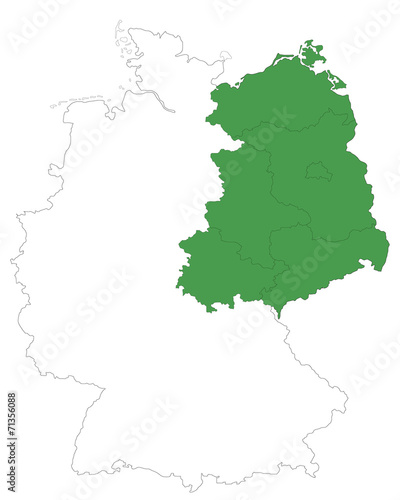 Neue Bundeslander In Grun Stock Image And Royalty Free Vector