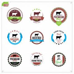 Vector Beef Labels