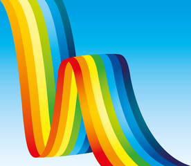 Vector background. Rainbow.