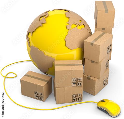 online shop versand pakete global stockfotos und lizenzfreie bilder auf bild. Black Bedroom Furniture Sets. Home Design Ideas
