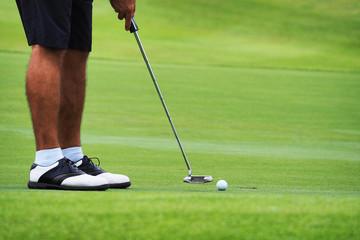 Golfer putting