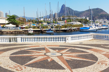 Corcovado Christ the Redeemer Guanabara bay, Rio de Janeiro, Bra
