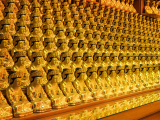 Buddha images in Bongeunsa temple, Seoul, South Korea
