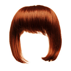 red hair isolated