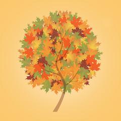 abstract autumn tree