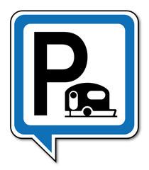 Logo parking caravane.