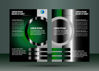 Abstract business brochure green lives vector