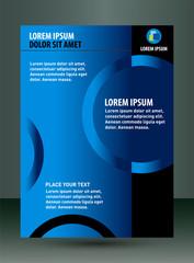 Blue flyer template