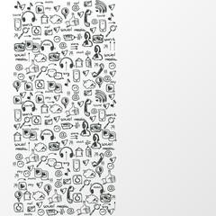 Social media sketch background