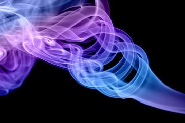 Obraz Dym na czarnym tle - fototapety do salonu