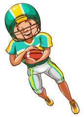An American football player