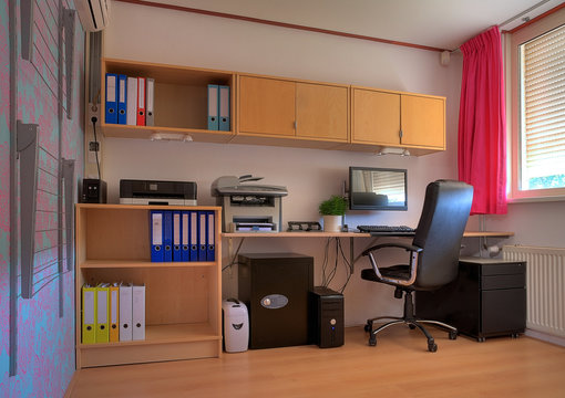 Workspace in a home office