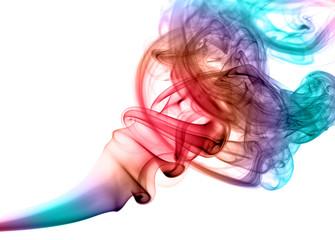 Obraz Kolorowy dym na białym tle - fototapety do salonu