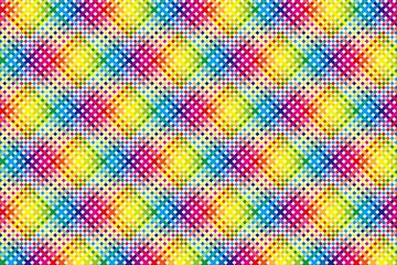 壁紙背景素材(多数の虹色小球体の放射, 虹, 虹色, 七色, レインボー, )