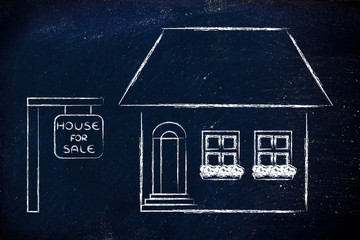 real estate market, funny house for sale