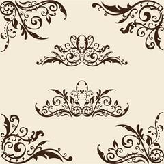 Cool ornate corner set