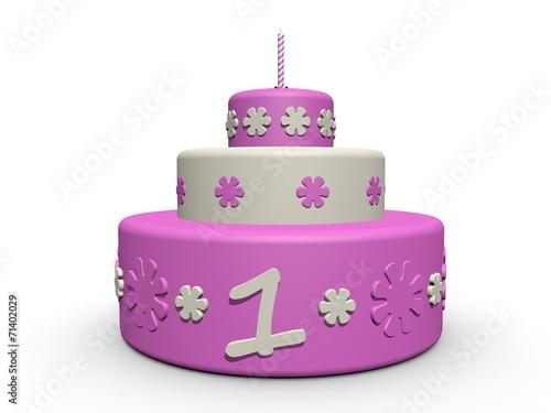Verjaardag Taart Meisje 1 Jaar Stock Photo And Royalty Free Images