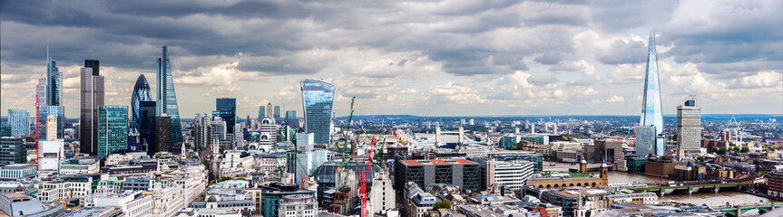Foto op Aluminium Bleke violet The City of London Panorama