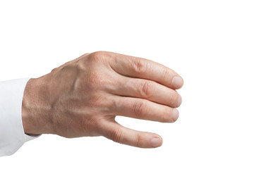 Isolated men's hand
