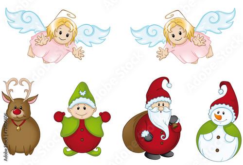 Lustige weihnachtsfiguren stockfotos und lizenzfreie vektoren auf bild 71406606 - Clipart weihnachtswichtel ...