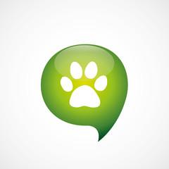 cat icon green think bubble symbol logo.