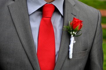 jacket decorated for wedding