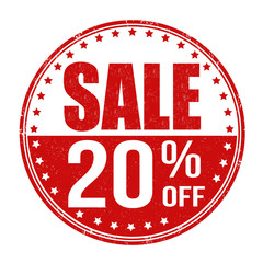 Sale 20% off stamp