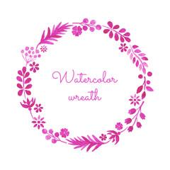 Watercolor wreath.