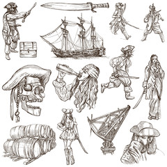 pirates - an hand drawn collection