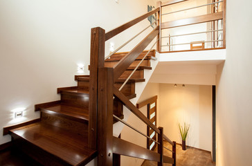 Wooden stairs at home Fototapete