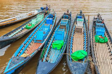 Tour boat at Inle Lake in Shan State, Myanmar